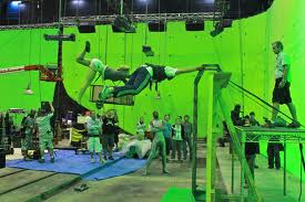 Green Screen on Iron Sky